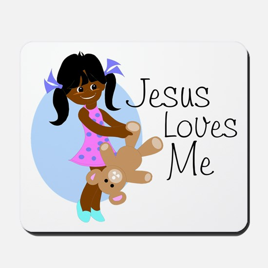 Jesus Loves Me Mousepad