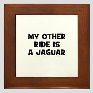 my other ride is a Jaguar Framed Tile