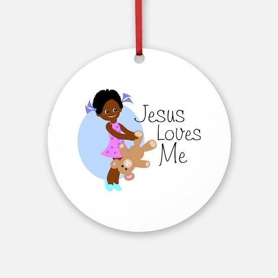 Jesus Loves Me Ornament (Round)