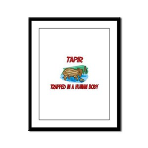 Tapir trapped in a human body Framed Panel Print