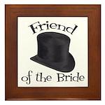 Top Hat Bride's Friend Framed Tile