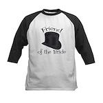 Top Hat Bride's Friend Kids Baseball Jersey