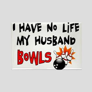 No Life Husband Bowls Rectangle Magnet