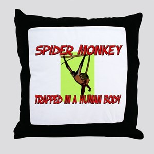 Spider Monkey trapped in a human body Throw Pillow