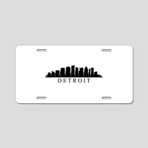 detroit skyline Aluminum License Plate