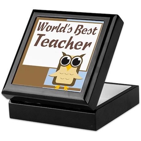 World's Best Teacher Keepsake Box
