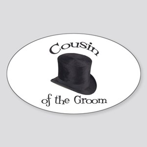 Top Hat Groom's Cousin Oval Sticker