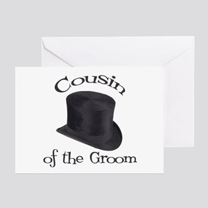 Top Hat Groom's Cousin Greeting Cards (Pk of 10)