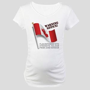 Canadian FlagDefense Maternity T-Shirt