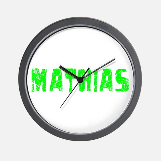 Mathias Faded (Green) Wall Clock