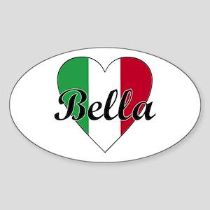 Italian Bella Oval Sticker
