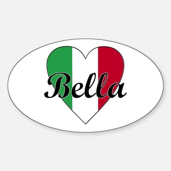 Italian Bella Oval Decal