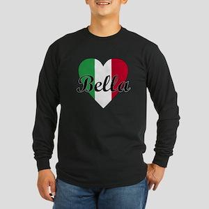 Italian Bella Long Sleeve Dark T-Shirt