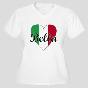 Italian Bella Women's Plus Size V-Neck T-Shirt