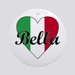 Italian Bella Ornament (Round)