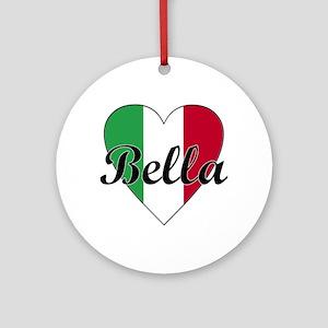 Italian Bella Ornament (Round)