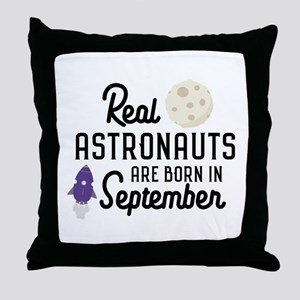 Astronauts are born in September C68t Throw Pillow
