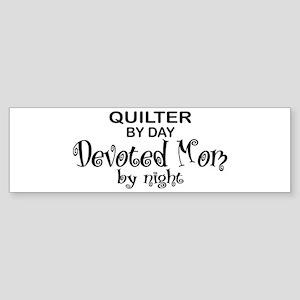 Quilter Devoted Mom Bumper Sticker