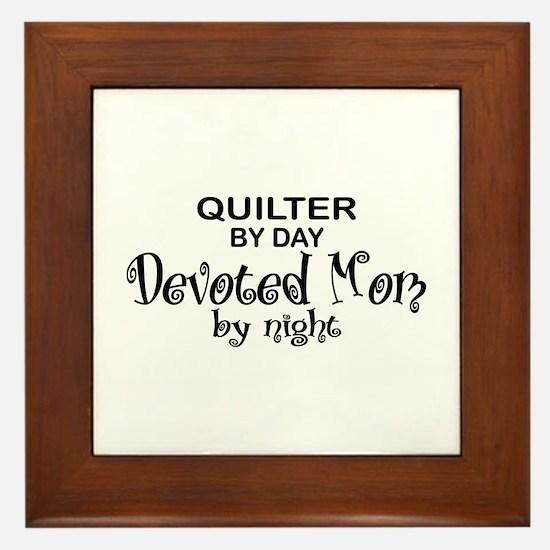 Quilter Devoted Mom Framed Tile