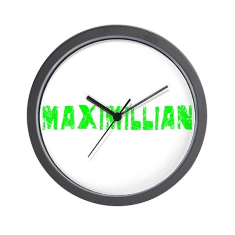 Maximillian Faded (Green) Wall Clock
