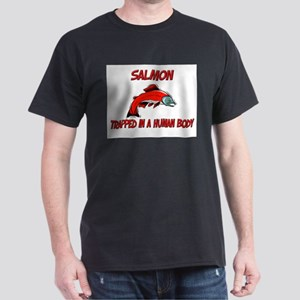 Salmon trapped in a human body Dark T-Shirt