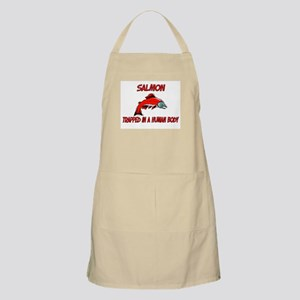 Salmon trapped in a human body BBQ Apron