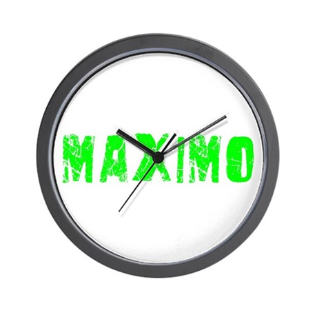 Maximo Faded (Green) Wall Clock