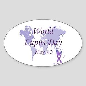 World Lupus Day Oval Sticker