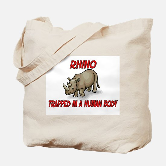Rhino trapped in a human body Tote Bag