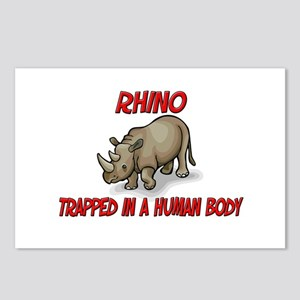 Rhino trapped in a human body Postcards (Package o