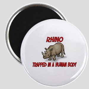 Rhino trapped in a human body Magnet