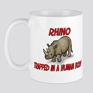 Rhino trapped in a human body Mug