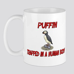 Puffin trapped in a human body Mug