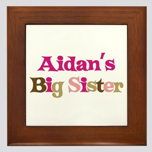 Aidan's Big Sister Framed Tile