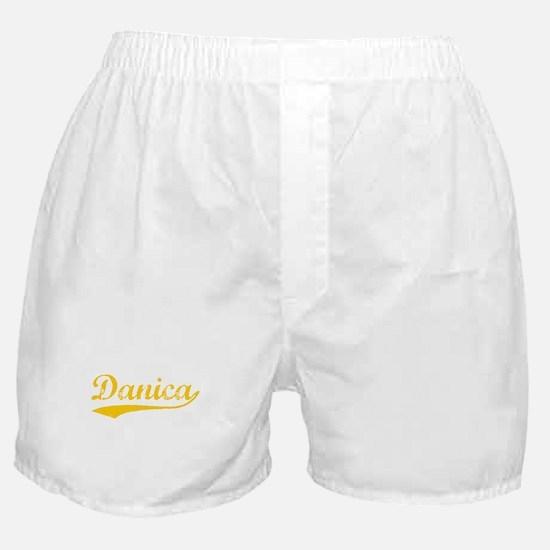 Vintage Danica (Orange) Boxer Shorts