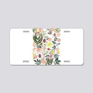 Flowers_batik Aluminum License Plate