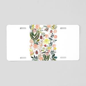 Flowers_batik Aluminum License Plate