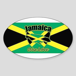 Jamaica And Shield Sticker