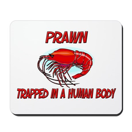 Prawn trapped in a human body Mousepad