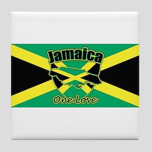 Jamaica And Shield Tile Coaster