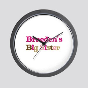 Braeden's Big Sister Wall Clock