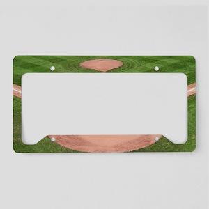 Baseball Field License Plate Holder