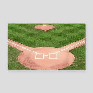 Baseball Field Rectangle Car Magnet
