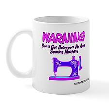 Warning Sewing Machine Mug
