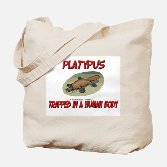 Platypus trapped in a human body Tote Bag
