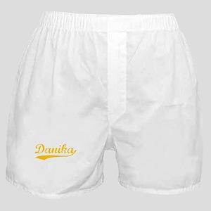 Vintage Danika (Orange) Boxer Shorts
