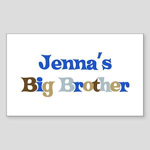 Jenna's Big Brother Rectangle Sticker