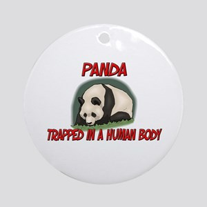 Panda trapped in a human body Ornament (Round)