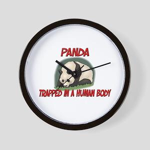 Panda trapped in a human body Wall Clock