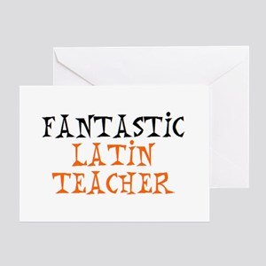 fantastic latin teacher Greeting Card